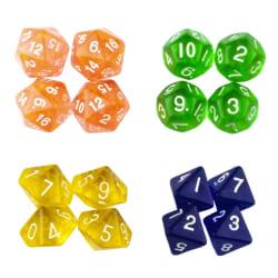 16-pack tärningar till Dungeons and Dragons multifärg