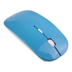 2.4 GHz Trådlös Mus - Super Thin Design - Ljusblå Ljusblå