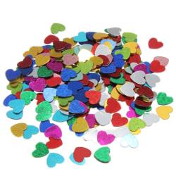 200st Metalliska Paljetter - Hjärtan multifärg