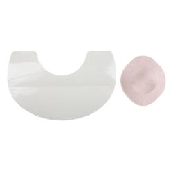 24x Bröstlyftande Klistermärken Vit one size