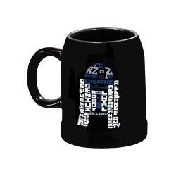Star Wars, Ölsejdel i Keramik - R2D2 Svart