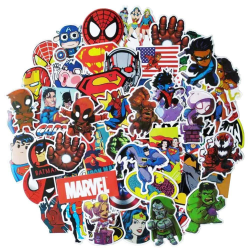 50x klistermärken, superhjältar - nr 3 multifärg