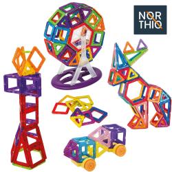 Northio, Magnetiska Byggleksaker - 82 Delar multifärg