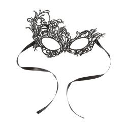 Maskeradmask i Spets - Svart Svart