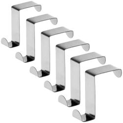 Tatkraft, Seger - Vändbara Dörr- och Skåpkrokar, 6-pack Silver