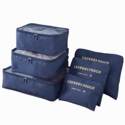 Organiseringsset för Resväskor - Mörkblå Mörkblå