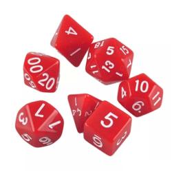 7-pack tärningar till Dungeons and Dragons (Röd) Röd