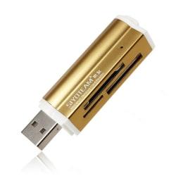All-in-One USB Minneskortsläsare Guld