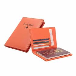 Passhållare i PU-läder, Orange Orange