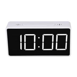 Digital Alarmklocka - Vit Vit