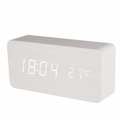 Digital LED Väckarklocka i Trädesign - Vit Vit