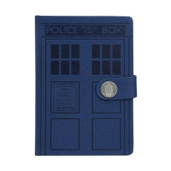 Doctor Who, Premium Anteckningsbok A5 - Tardis Blå