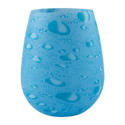Dricksglas av Silikon med Mönster - Blåa Vattendroppar multifärg