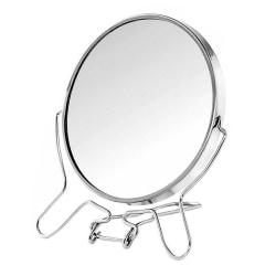 Dubbelsidig Spegel med Förstoring Silver