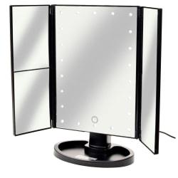 Förstorande Sminkspegel med LED-lampor Svart