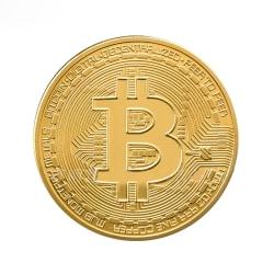 Guldpläterad BitCoin Guld