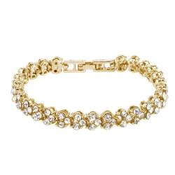 Klassiskt Armband med Strass - Guld Guld