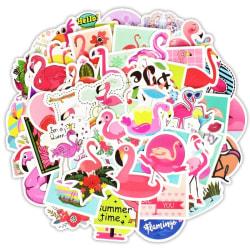 Klistermärken, 50 pack - Flamingo multifärg