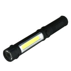 LED-ficklampa med 2 ljuskällor Svart