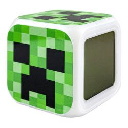 Minecraft Digital Väckarklocka - Creeper Nr. 3 multifärg