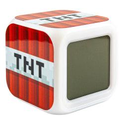 Minecraft Digital Väckarklocka - TNT multifärg