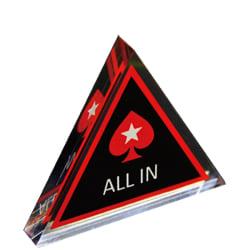 PokerStars Poker All-in knapp Svart