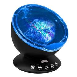 Projektorlampa med Högtalare - Svart Svart