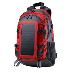 Ryggsäck med Solcellsladdare - Röd Röd