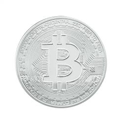 Silverpläterad BitCoin Silver