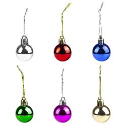 Små julgranskulor i olika färger, 12-pack multifärg