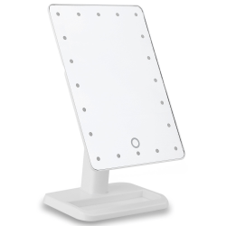 Sminkspegel med LED-lampor - Vit Vit
