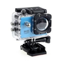 Sports Cam Full HD 1080p/720p - Med tillbehör Blå
