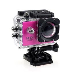 Sports Cam Full HD 1080p/720p - Med tillbehör Rosa