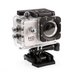 Sports Cam Full HD 1080p/720p - Med tillbehör Vit