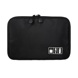 Väska för förvaring av kablar och elektronik - Svart Svart