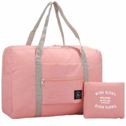 Vikbar Väska - Rosa Rosa