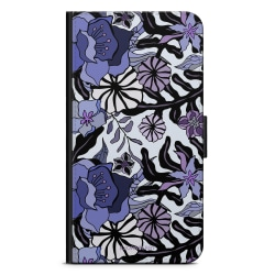 Bjornberry Fodral Sony Xperia X Compact - Lila Blommor