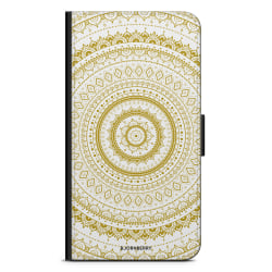 Bjornberry Plånboksfodral iPhone 12 - Vit Guld Mandala
