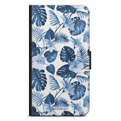 Bjornberry Plånboksfodral Sony Xperia 5 - Blå Blommor