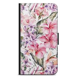 Bjornberry Plånboksfodral Sony Xperia 5 - Vattenfärg Blommor