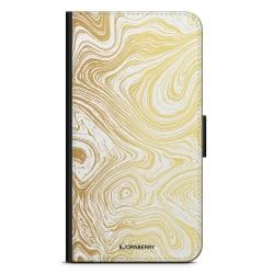 Bjornberry Plånboksfodral Sony Xperia L3 - Guld Marmor
