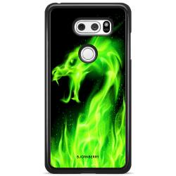 Bjornberry Skal LG V30 - Grön Flames Dragon