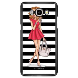 Bjornberry Skal Samsung Galaxy J7 (2016) - Modeskiss Dam Röd