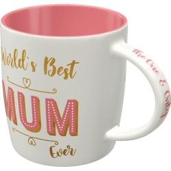 Mugg Världens bästa mamma rosa