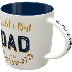 Mugg Världens bästa pappa blå