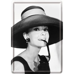 Vykort i plåt - Audrey Hepburn