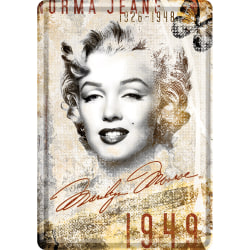 Vykort i plåt - Marilyn Monroe