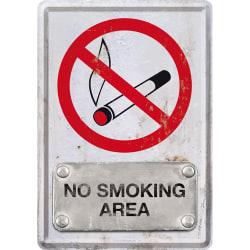 Vykort i plåt - No smoking /  Ingen rökning