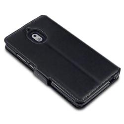 Mobilväska Nokia 2,1 Svart Slim Äkta Läder