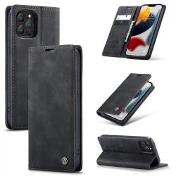 CaseMe Slim Plånboksfodral iPhone 13 Pro Svart